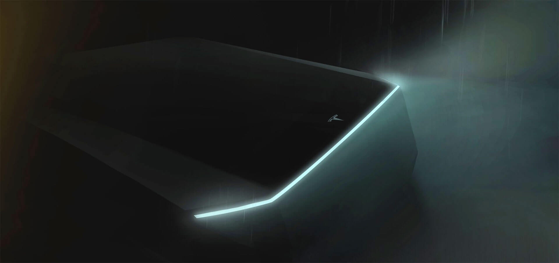 Фото-тизер электрического пикапа Tesla