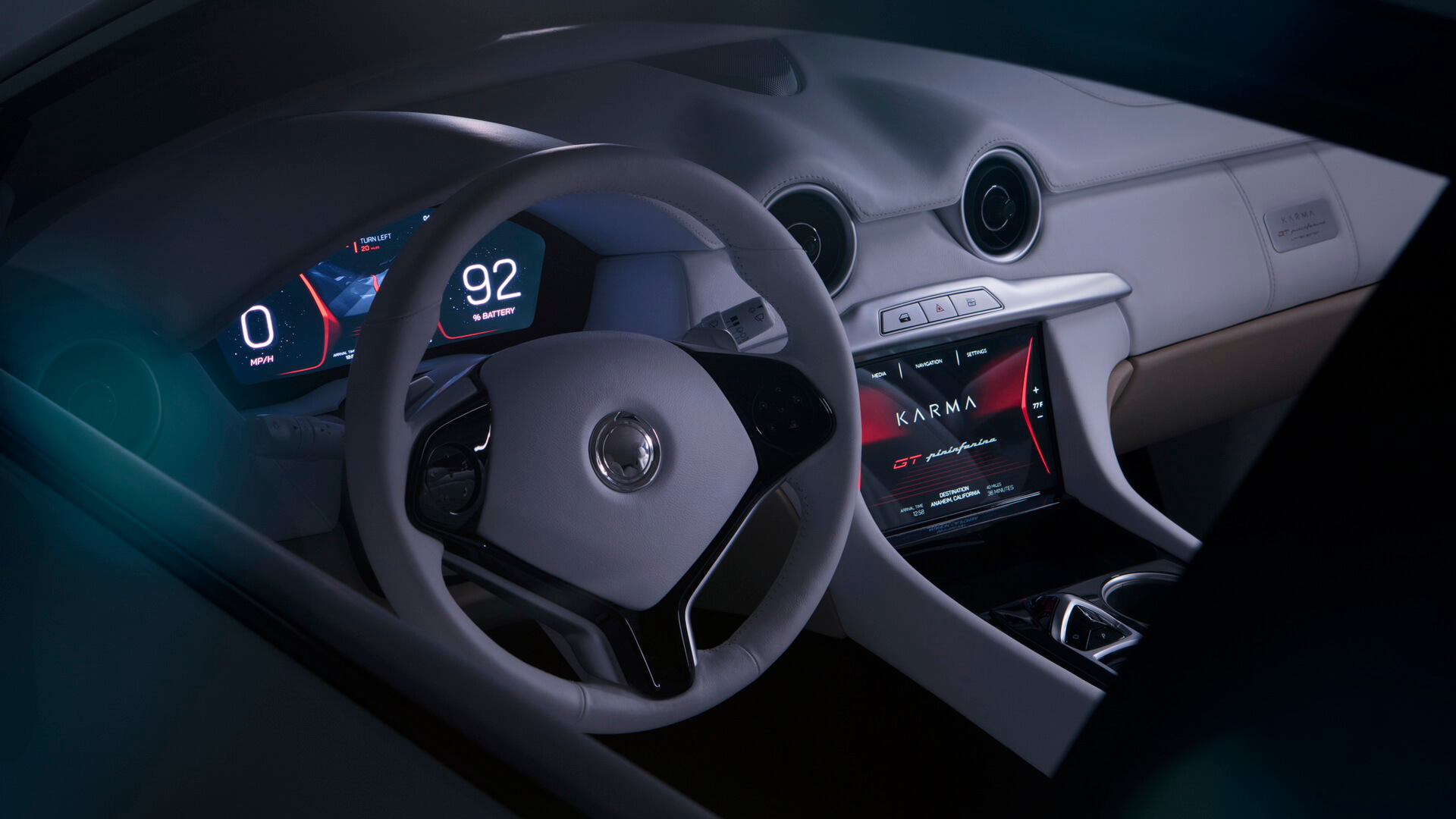 Приборная панель Karma Pininfarina GT