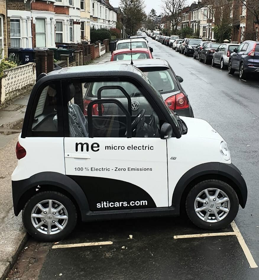 Siticars Me: городской электрокар на пол парковочного места