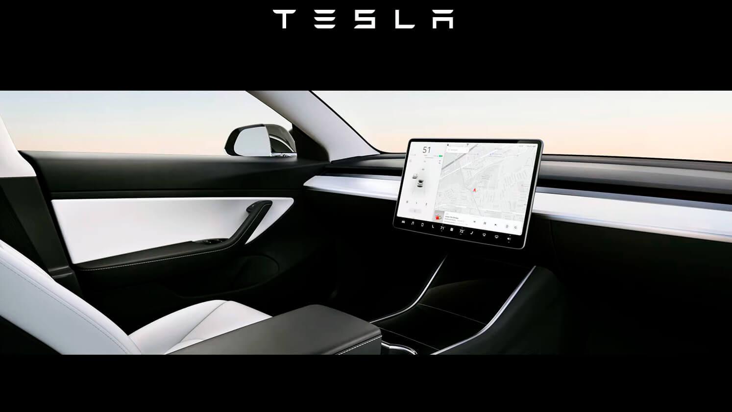 Tesla Model 3«без руля»