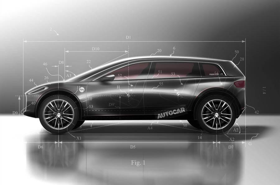 Вид первого электромобиля Dyson по мнению Autocar на основе патентных заявок