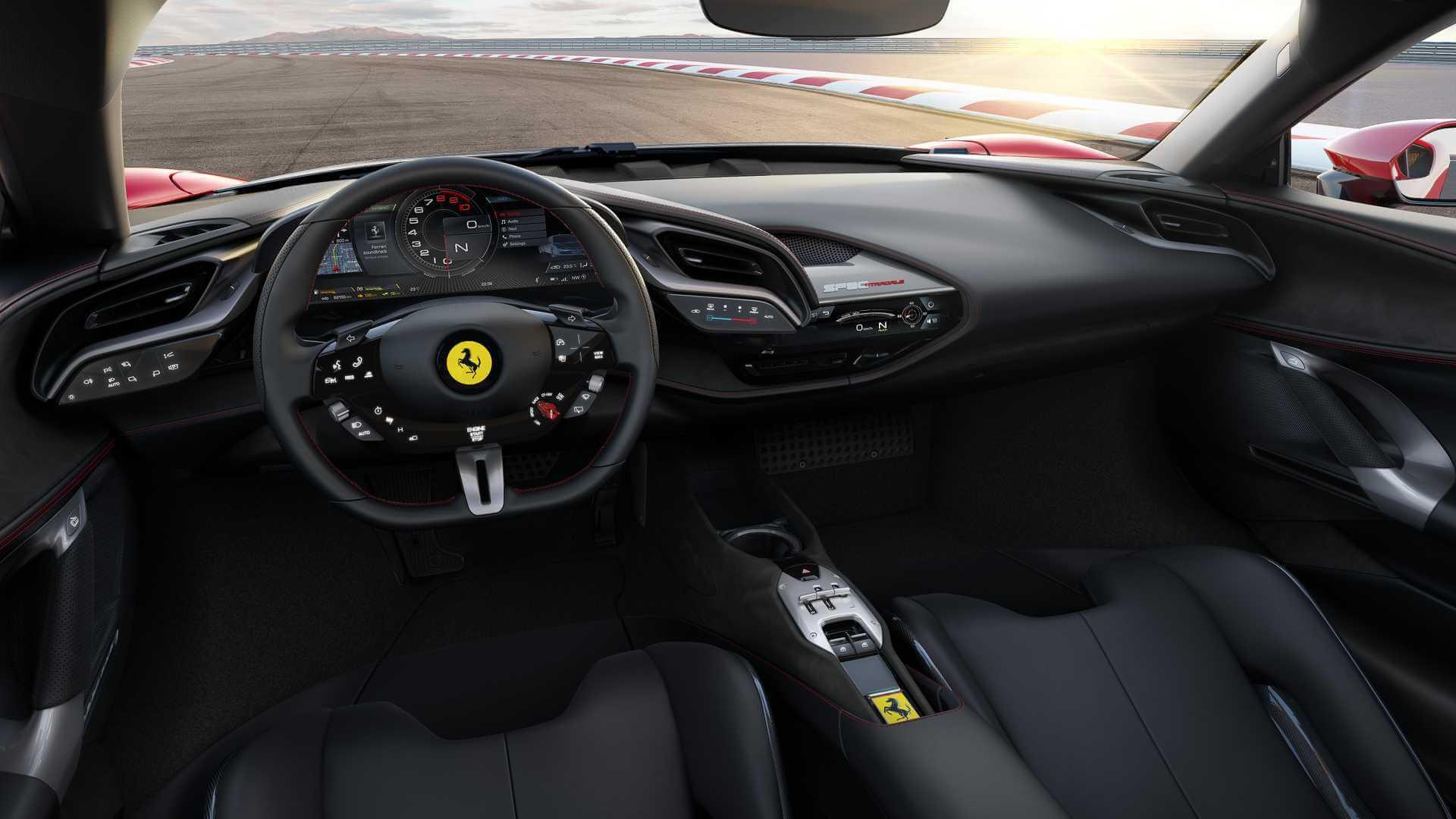 Интерьер Ferrari SF90 Stradale