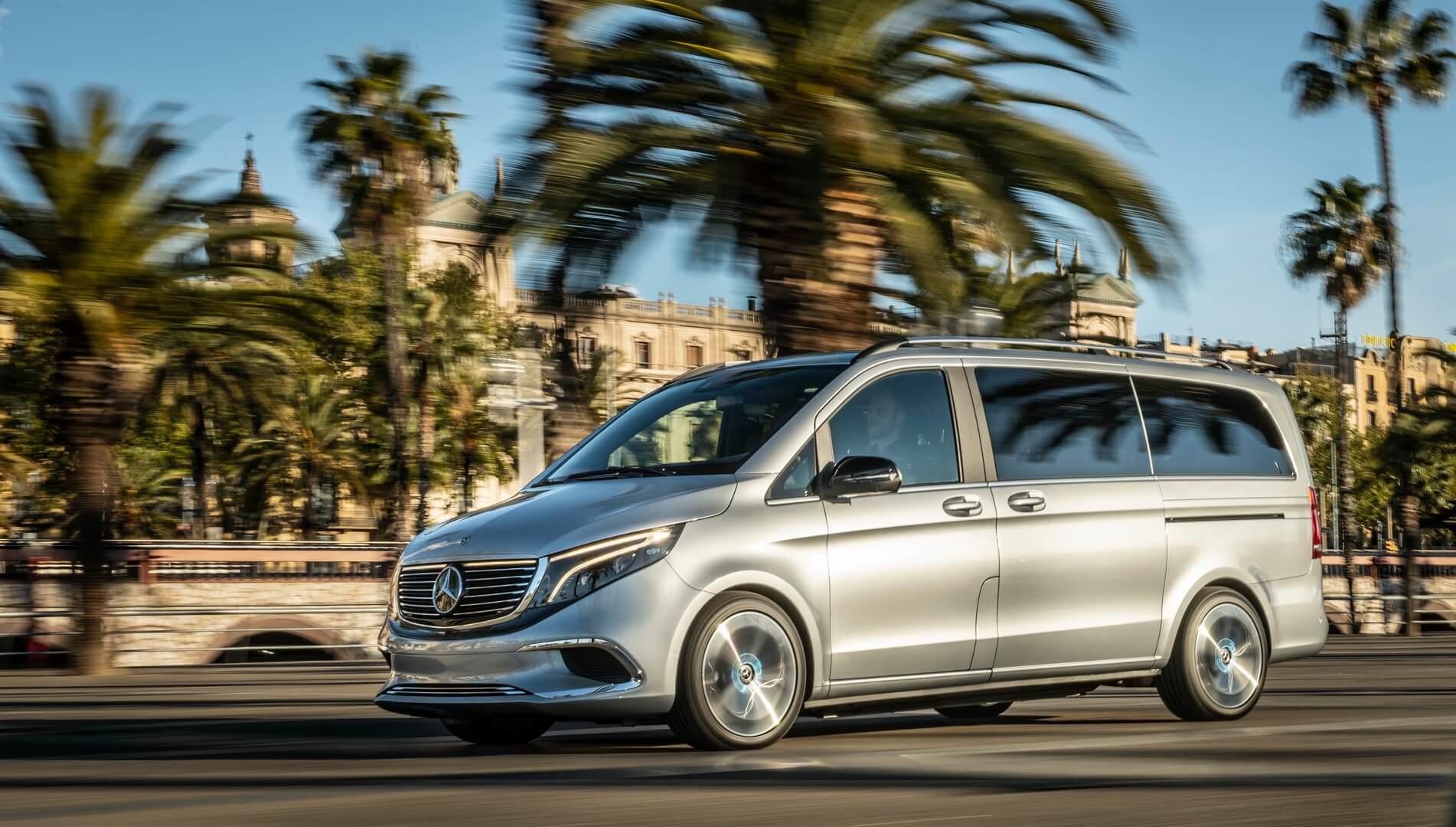 Mercedes EQV Concept: первый премиальный электрофургон в мире