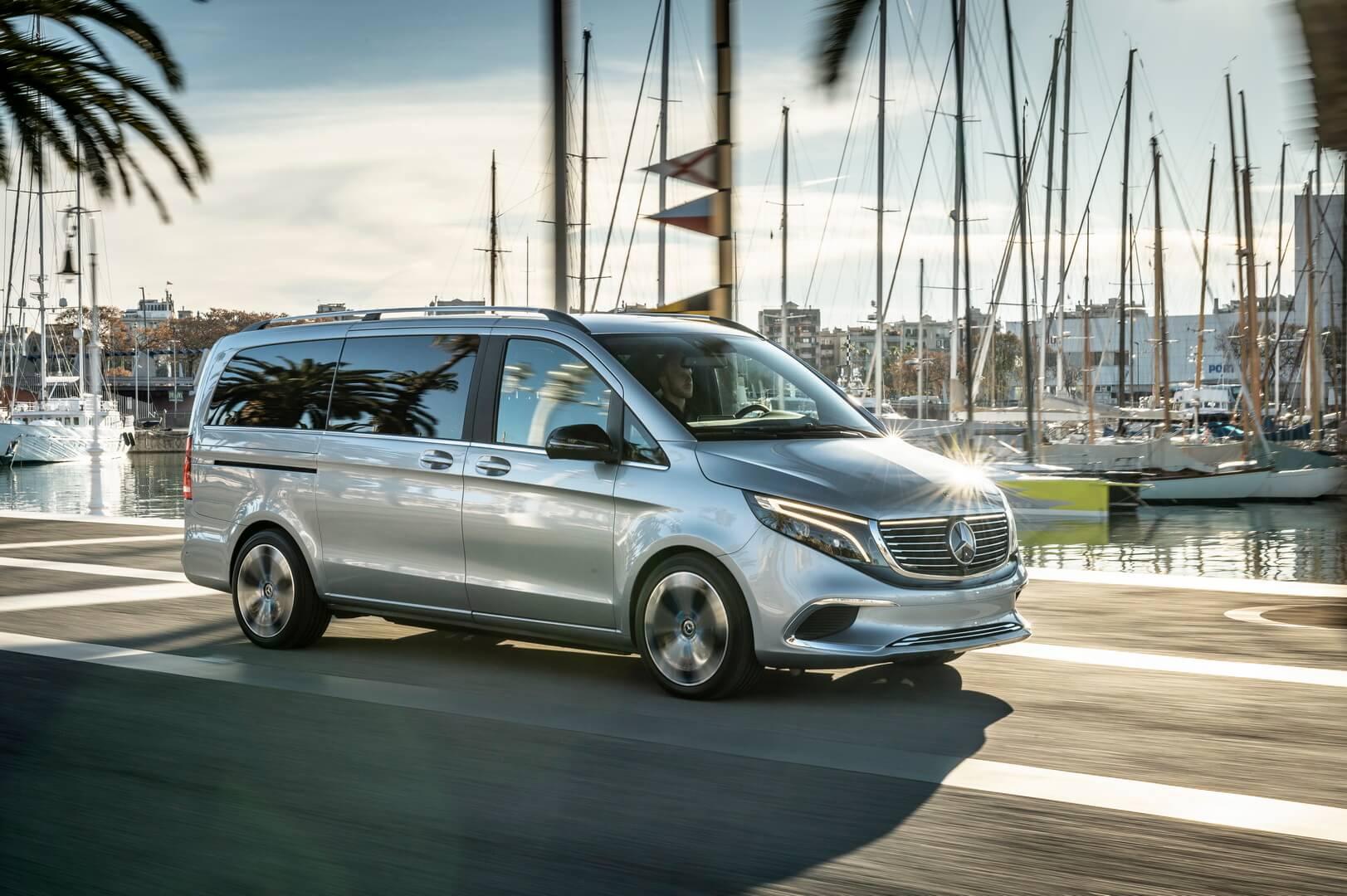 Mercedes-Benz продемонстрировал Concept EQV вБарселоне