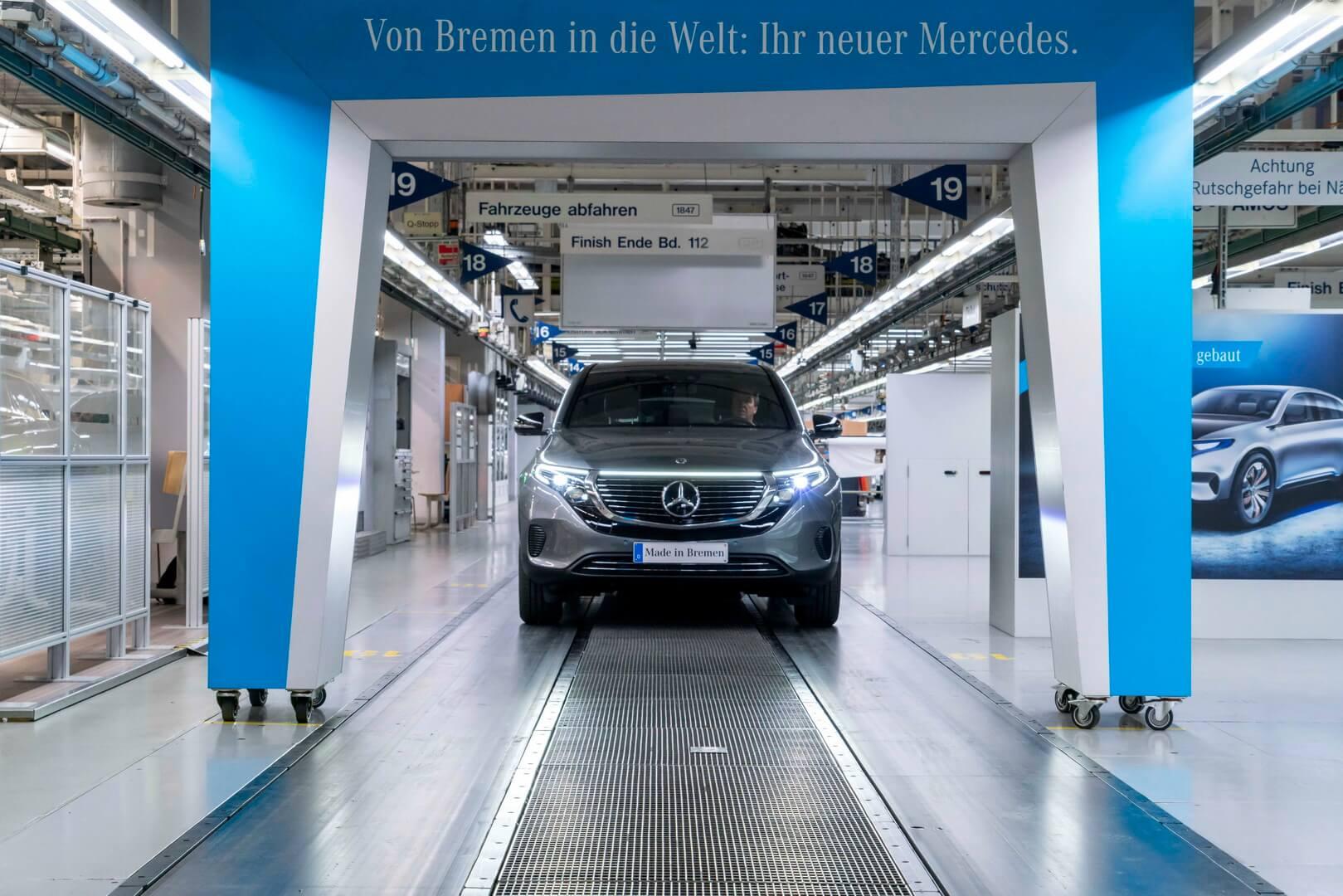 Стартовала серийное производство Mercedes-Benz EQC
