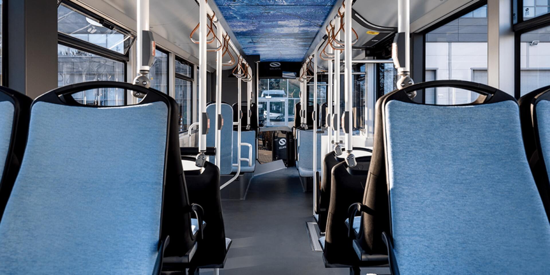 Салон водородного автобуса Solaris Urbino 12