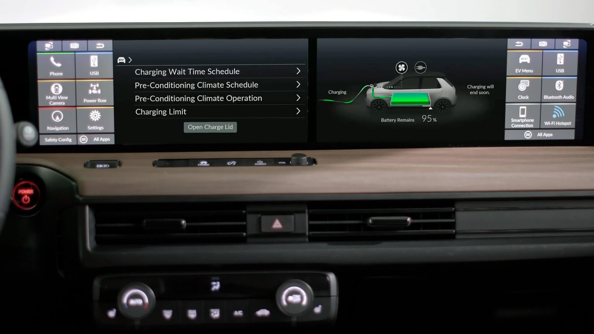 Два центральных 12,3-дюймовых сенсорных экранов Honda e
