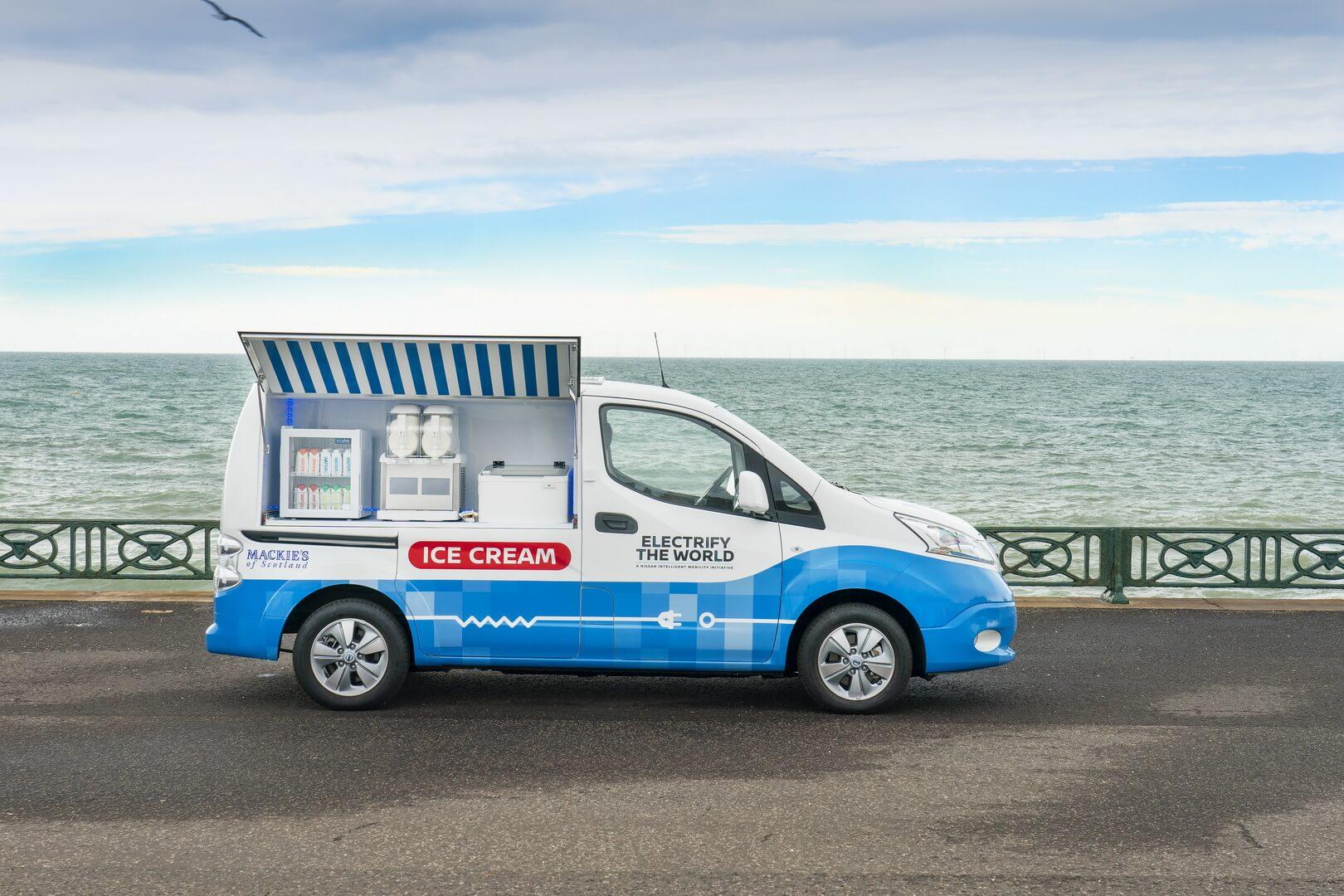 Nissan представил фургон для мороженого на базе e-NV200