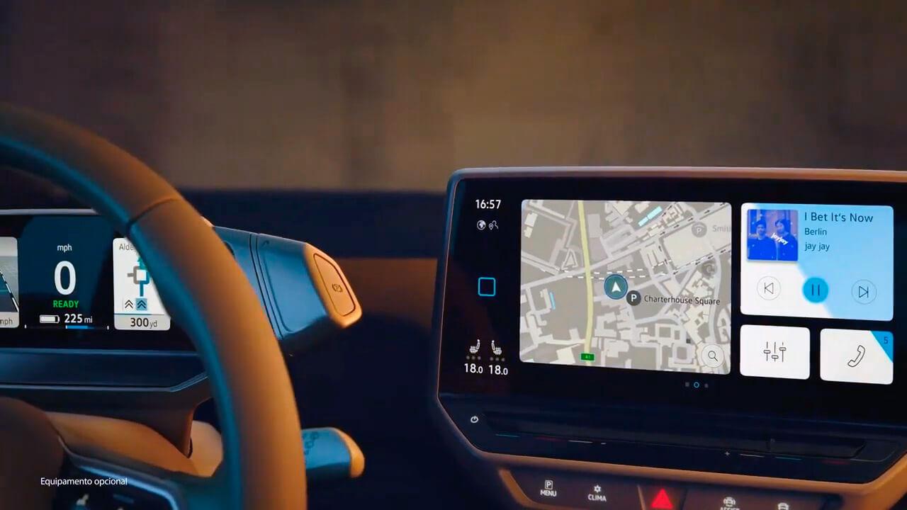 Приборная панель и центральный дисплей Volkswagen ID.3