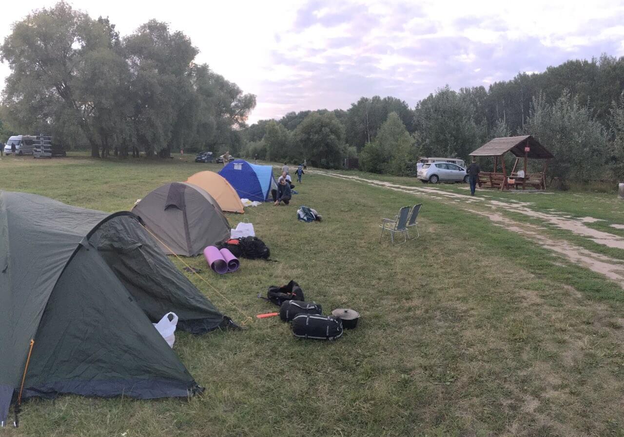 Палаточный городок участников пробега
