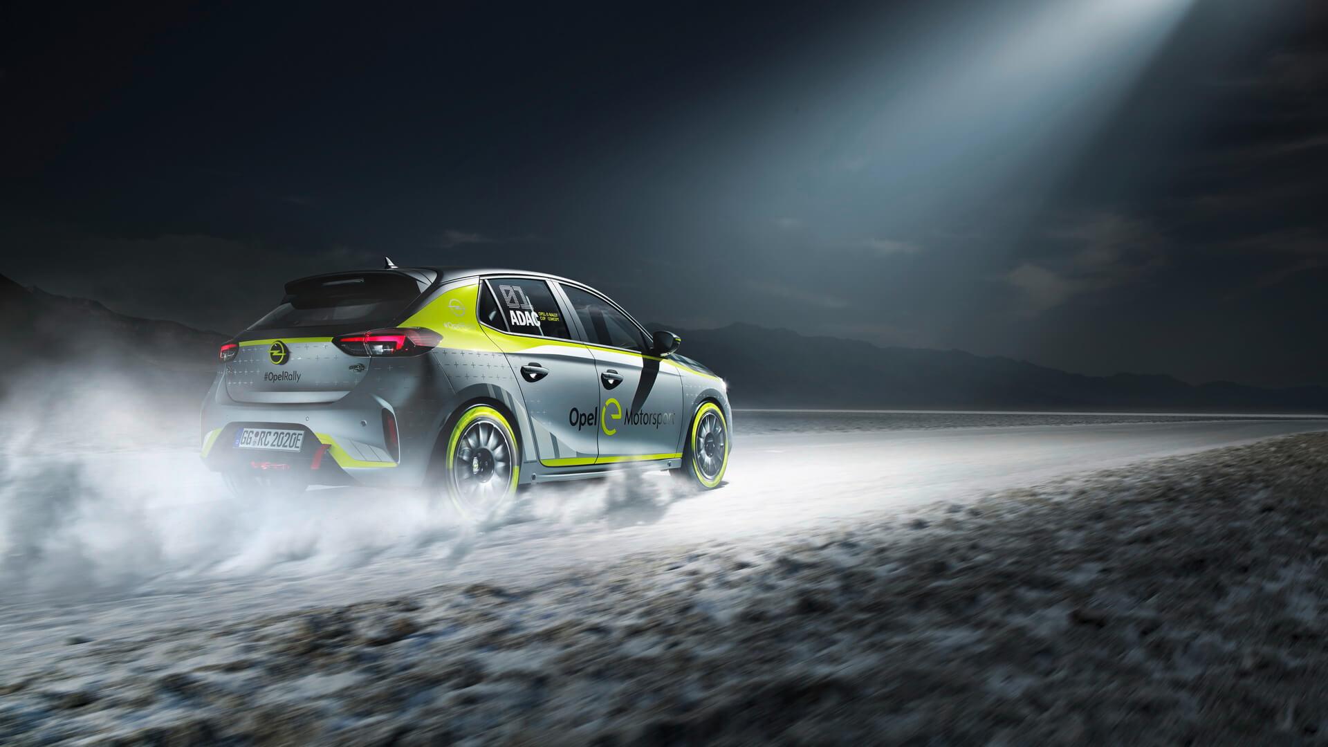 Электрический раллийный автомобиль на базе Opel Corsa-e