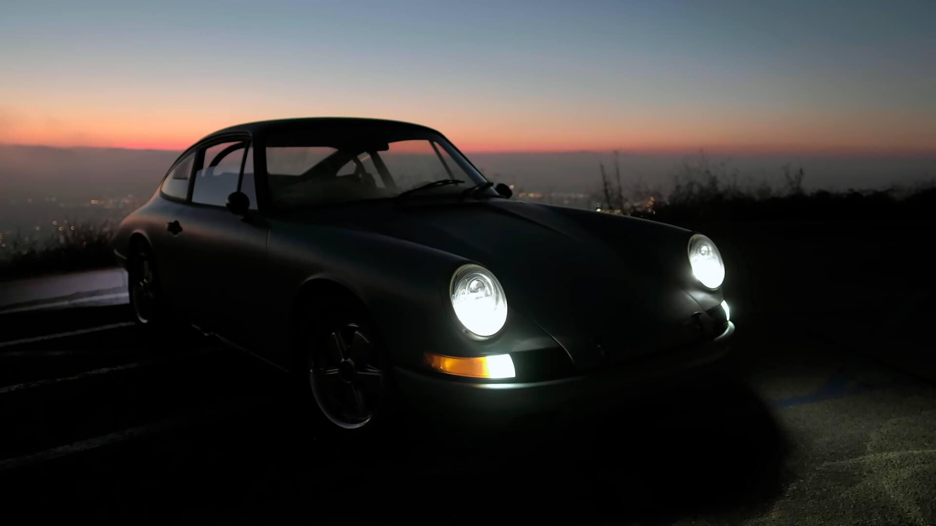 Porsche 912 1968 года превратили в винтажный электрокар