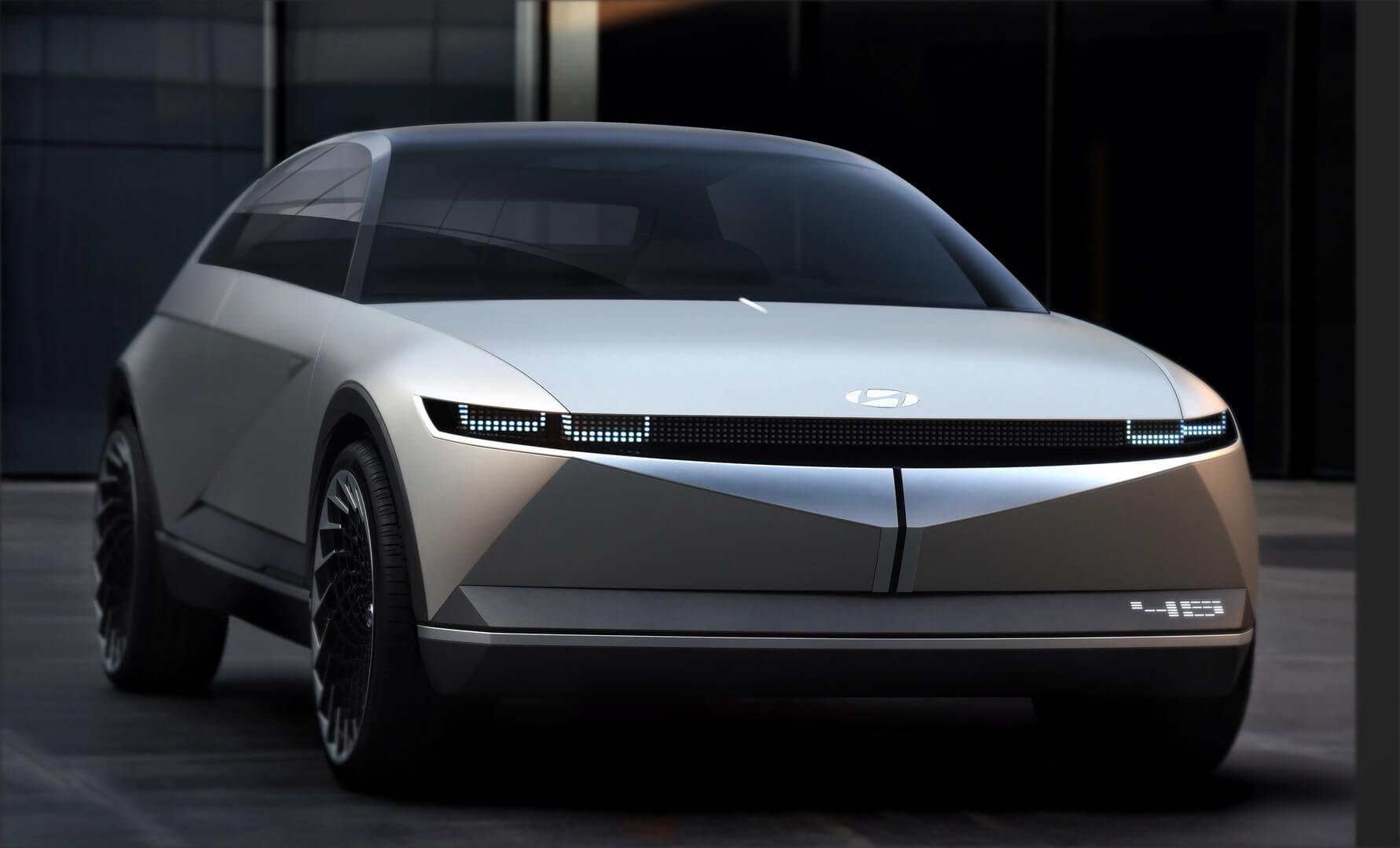 Концепция ретро электромобиля Hyundai «45» выглядит эффектно