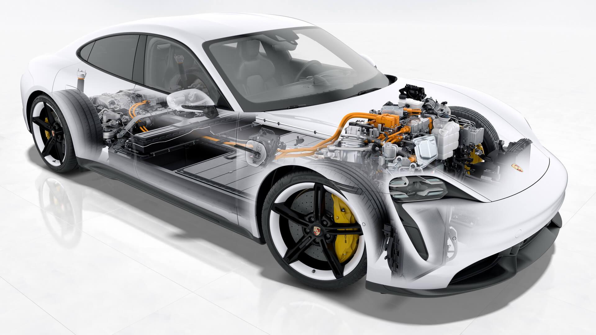 Porsche Taycan в разрезе