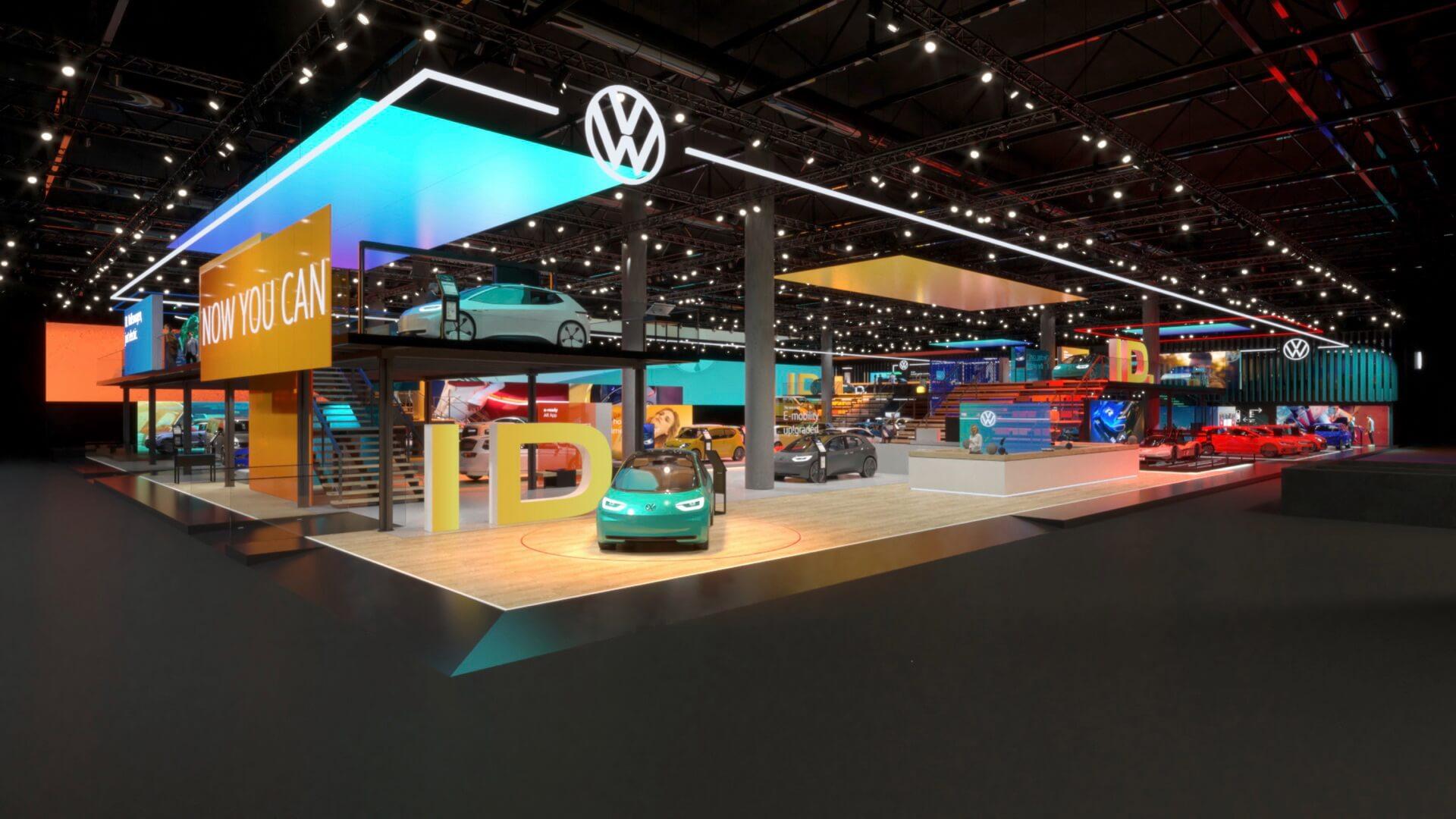 Volkswagen представил новый фирменный дизайн и логотип на автосалоне во Франкфурте 2019