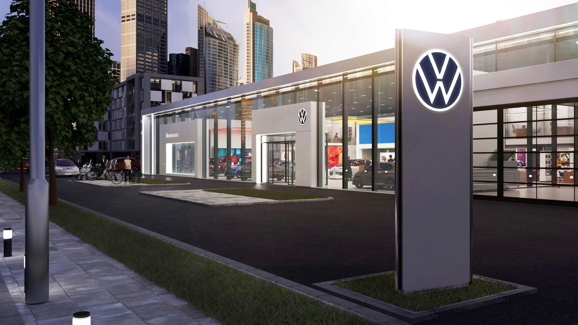 Новая эра электрификации: новый логотип Volkswagen