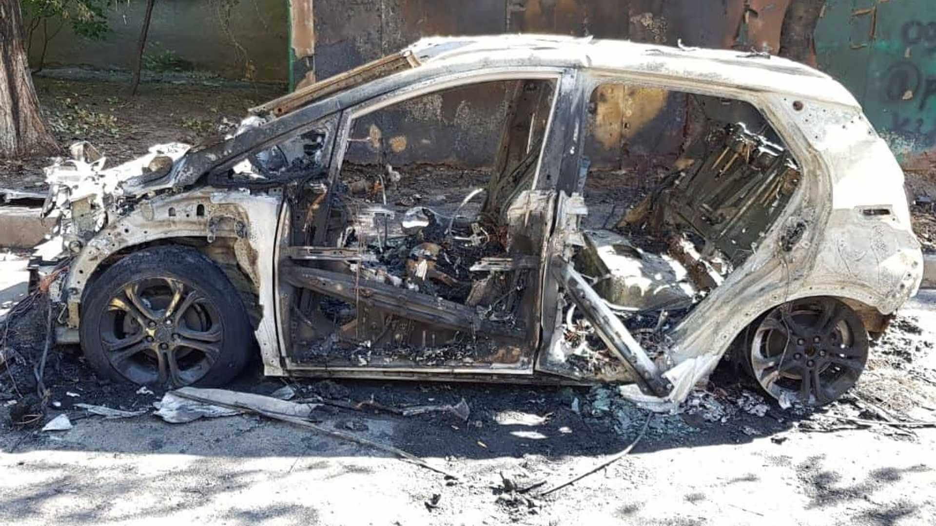 Первый случай возгорания Chevrolet Bolt зафиксирован в Киеве