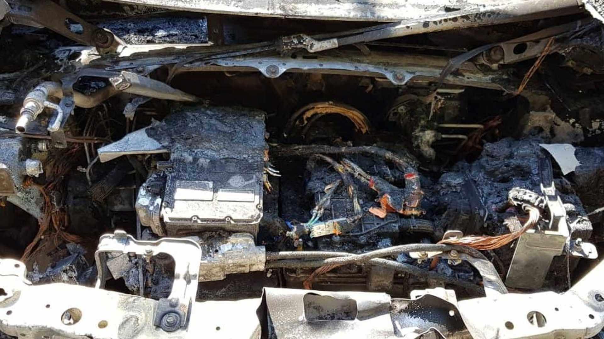В Киеве сгорел электрический автомобиль Chevrolet Bolt
