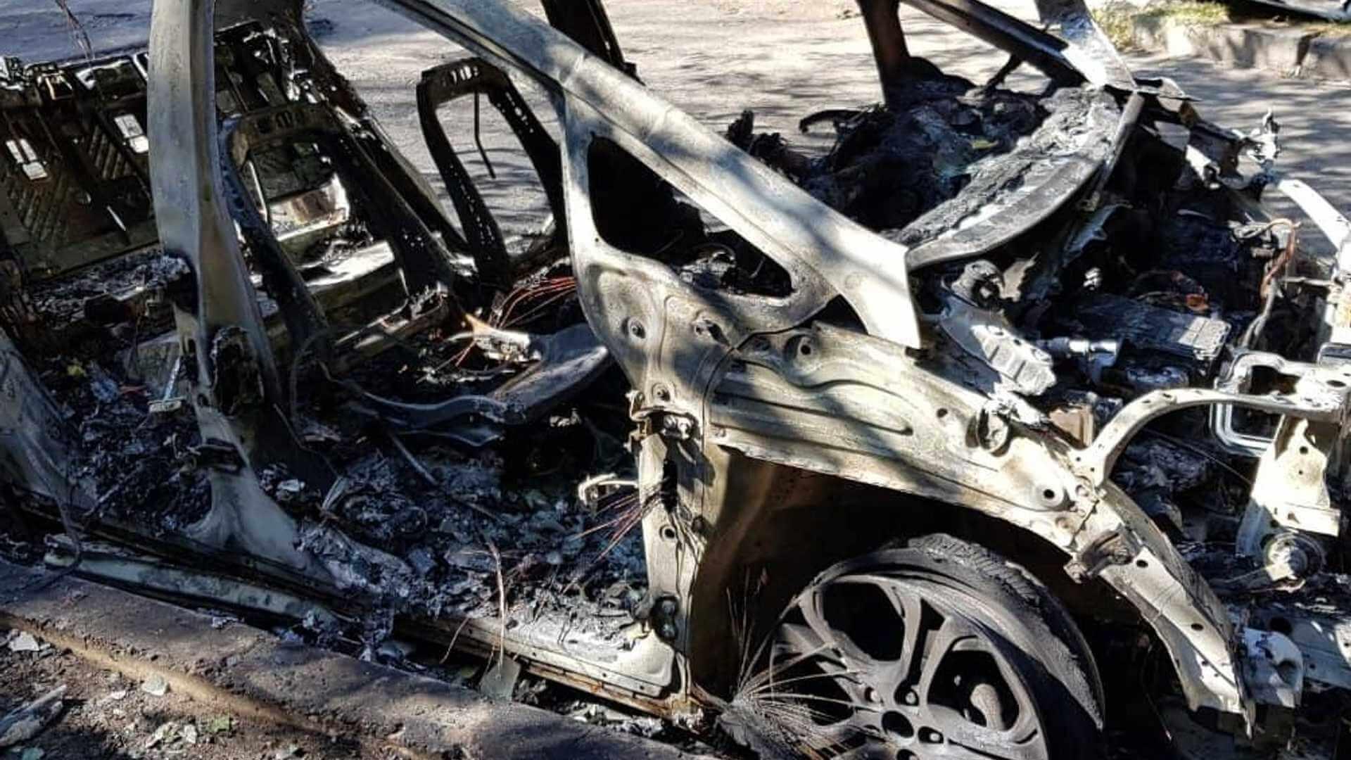 Электрокар Chevrolet Bolt сгорел в Киеве
