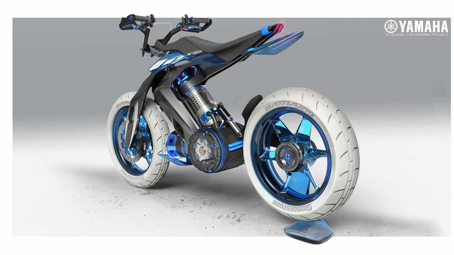 Концепт Yamaha XT500 H2O