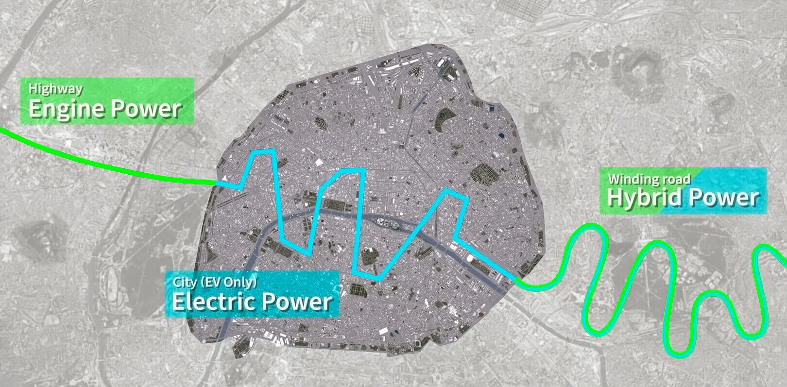 Лучшее из обоих миров: мотоциклисты могут доехать до города на бензине, а затем продолжить движение только на электричестве